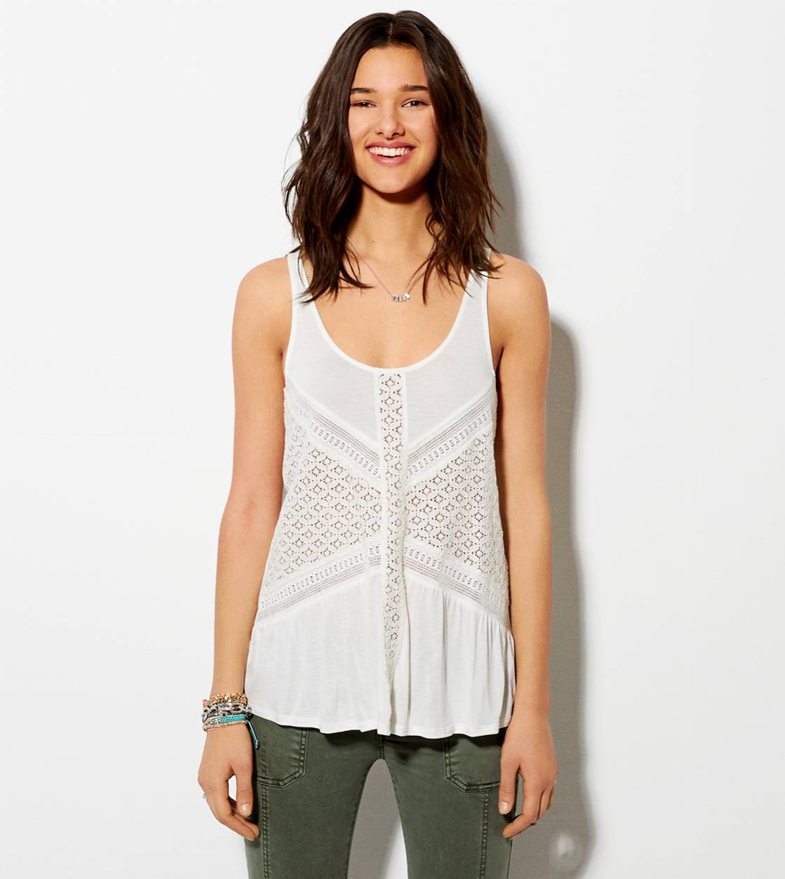 Chalk AE Crocheted Panel Tank