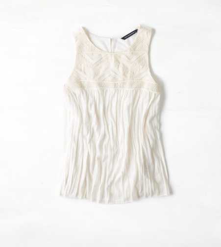 AEO Embroidered Crinkle Tank