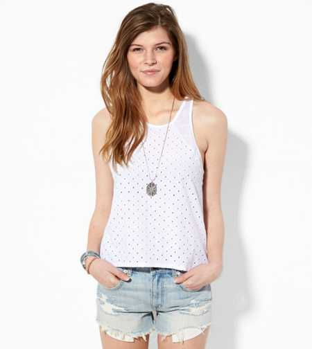 AE Eyelet Tank - Buy One Get One 50% Off