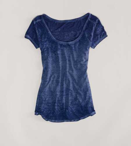 AE Every Wear Ruched Burnout Tee
