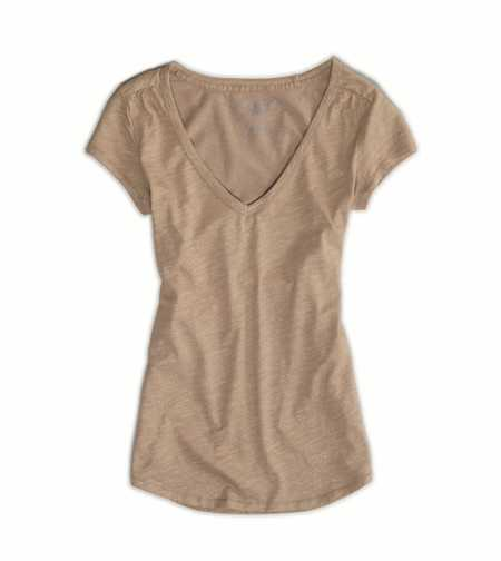 AE Metallic Ruched Every Wear Tee