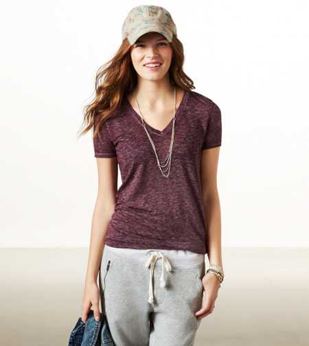 AE Favorite V-neck Burnout Tee