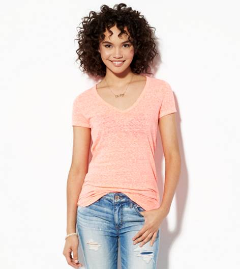 Neon Paradise AEO Real Soft® Favorite V-Neck T-Shirt