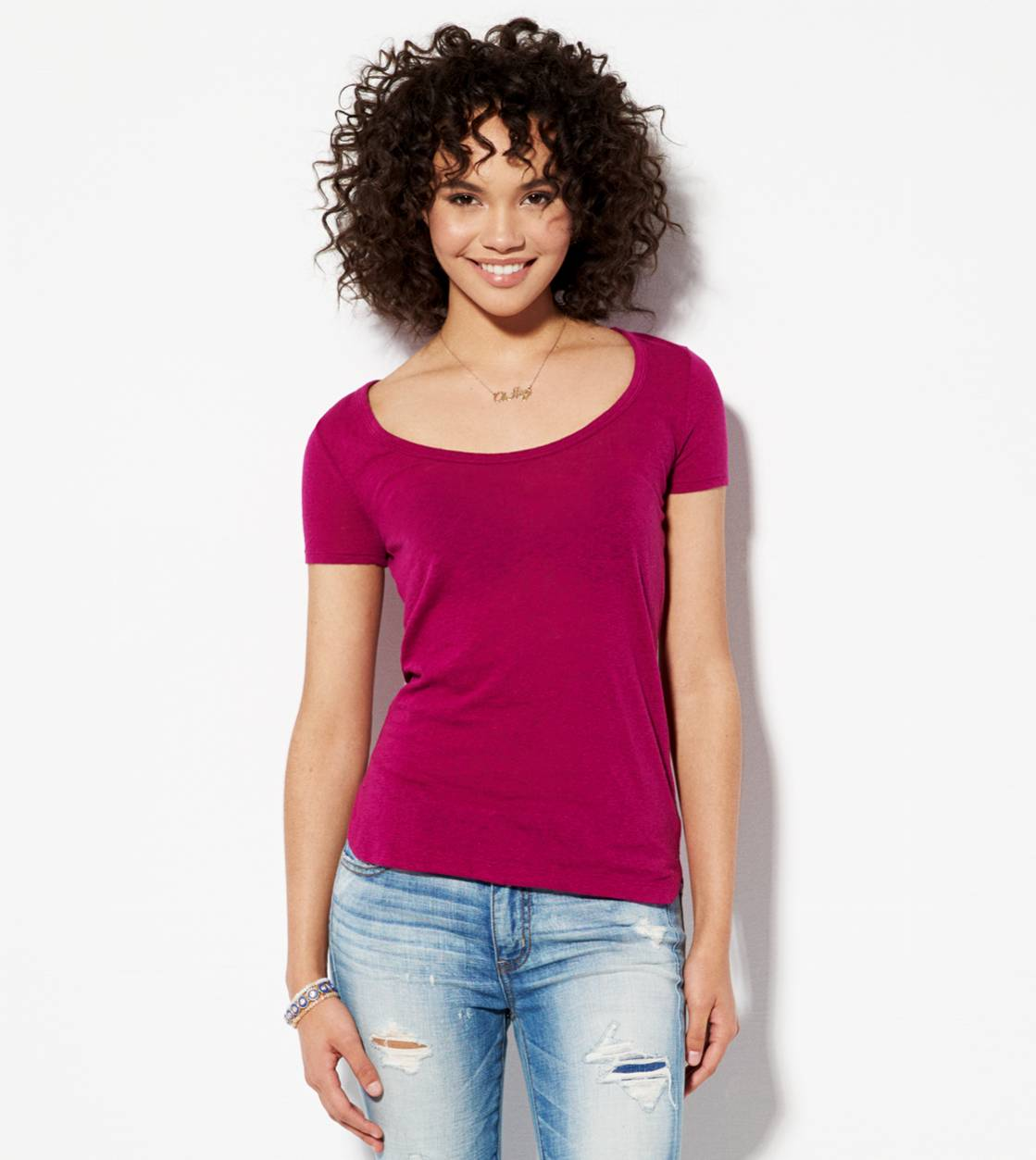Purple AE Favorite Scoop T-Shirt