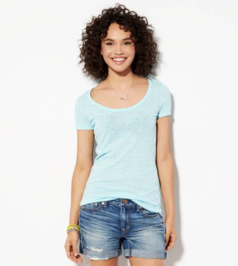 Dream Blue AE Real Soft® Favorite Scoop T-Shirt