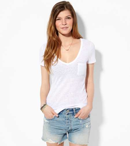 AE Favorite V-Neck Pocket T-Shirt