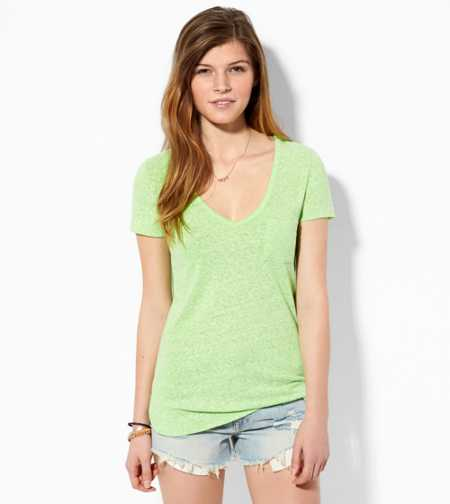 AE Favorite V-Neck Pocket T-S