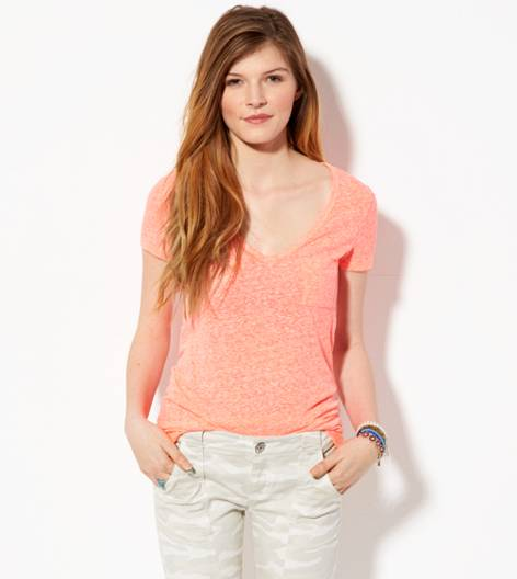 Neon Paradise AE Favorite V-Neck Pocket T-Shirt