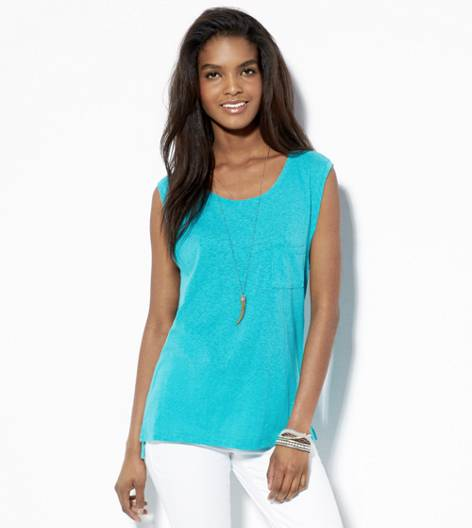 Tropical Teal AE Relaxed Pocket T-Shirt