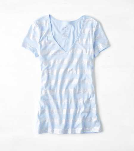 AEO Shimmery Striped T-Shirt