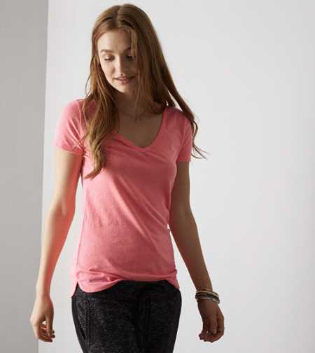 AEO Real Soft® Favorite V-Neck T-Shirt - Buy One Get One 50% Off