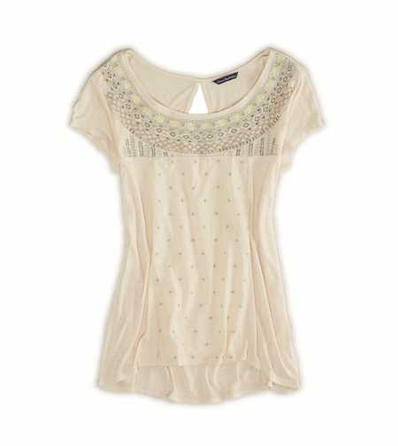 AE Boho Embroidered T-Shirt