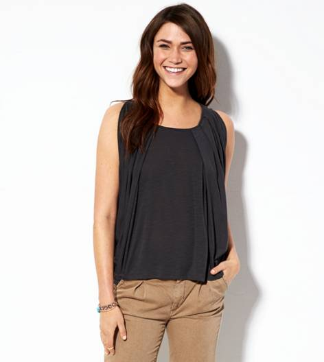 Ebony Grey AE Open Shoulder T-Shirt