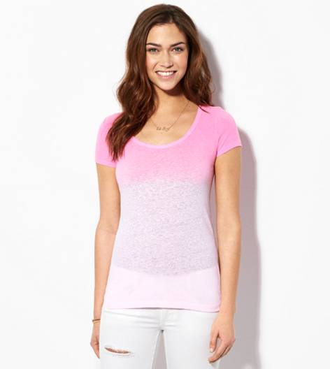 Neon Pink AE Dip Dyed Favorite Scoop T-Shirt
