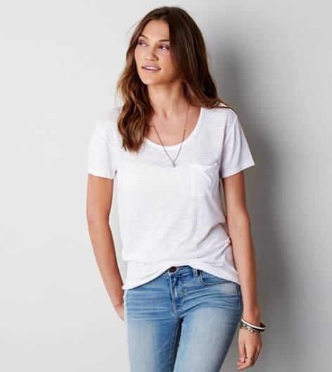 White  AEO Jegging T-Shirt