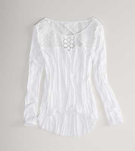 AE Lace Detail Tee - Check Out The Back!