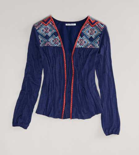 AE Embroidered Cardigan