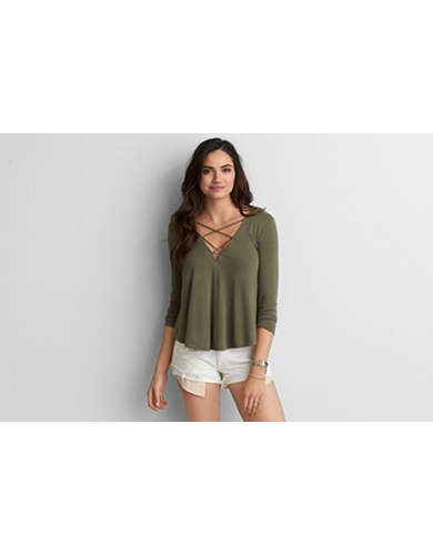 Shop like-new American Eagle Outfitters at up to 90% off retail price. The line offers casual essentials, including trendy tops, pants, and skirts along with your everyday basics. Share on Facebook Tweet Pin it. Category. AEO is a popular clothing brand.