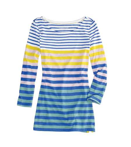 AE Striped 3/4 Sleeve Tee