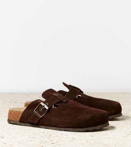 AEO Buckled Suede Clog - Free Shipping On Shoes