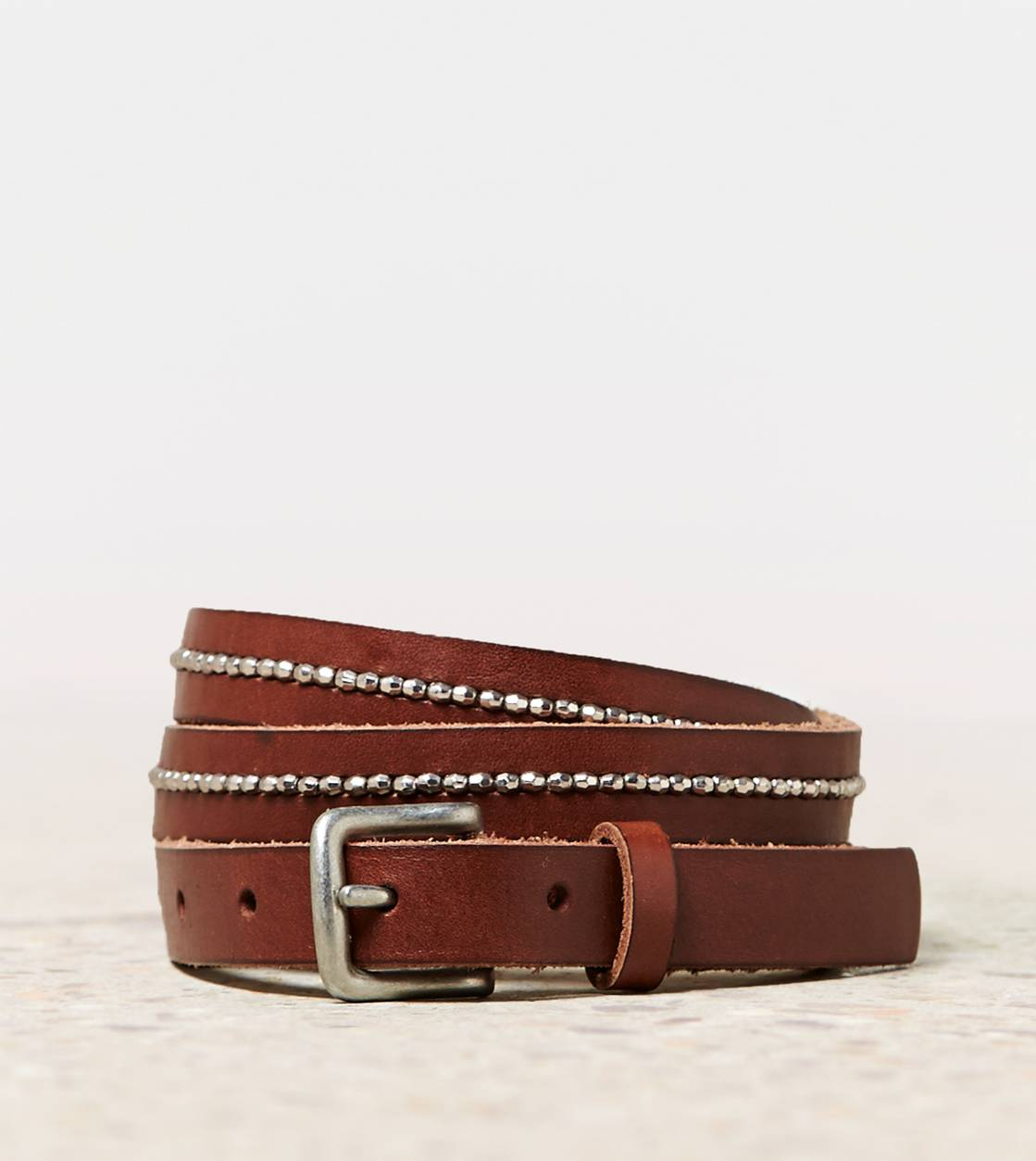 Dark Brown AEO Beaded Belt