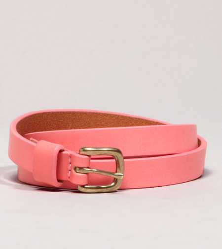 AEO Colored Leather Skinny Belt