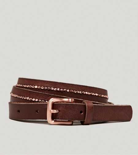 AEO Beaded Leather Belt