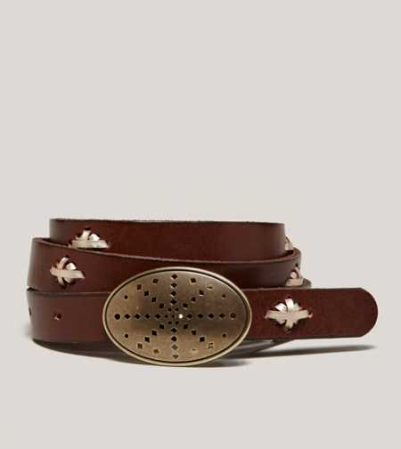 AEO Leather Plaque Belt