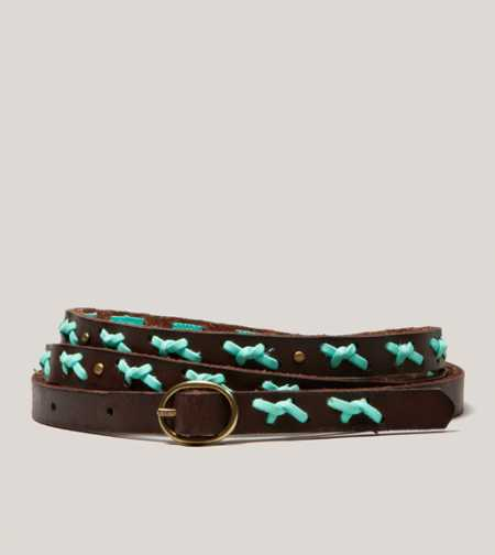 AEO Laced Leather Belt - Take 40% Off