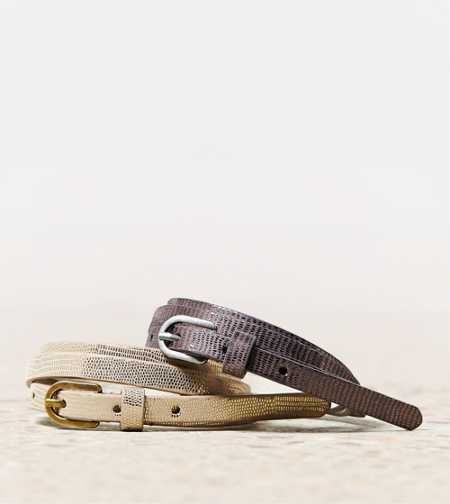 AEO Metallic Belt Set - Take 40% Off