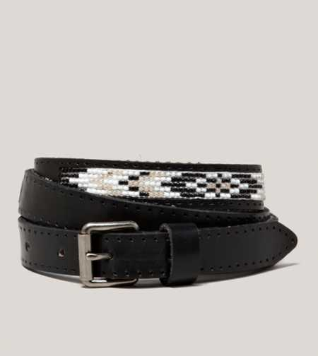 AEO Beaded Leather Belt - Take 40% Off