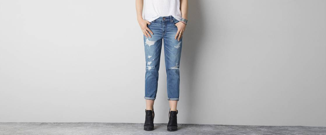 Medium Destroyed Boy Jean Crop