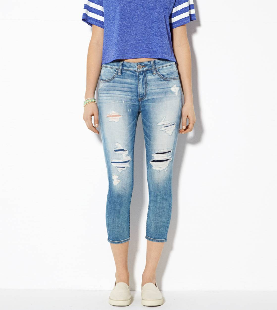 Medium Destroyed High-Rise Jegging Crop