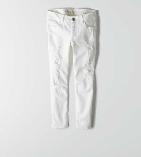 Jegging Crop - White Destroy