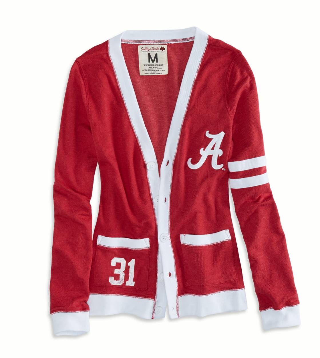 Red Alabama Vintage Varsity Cardigan