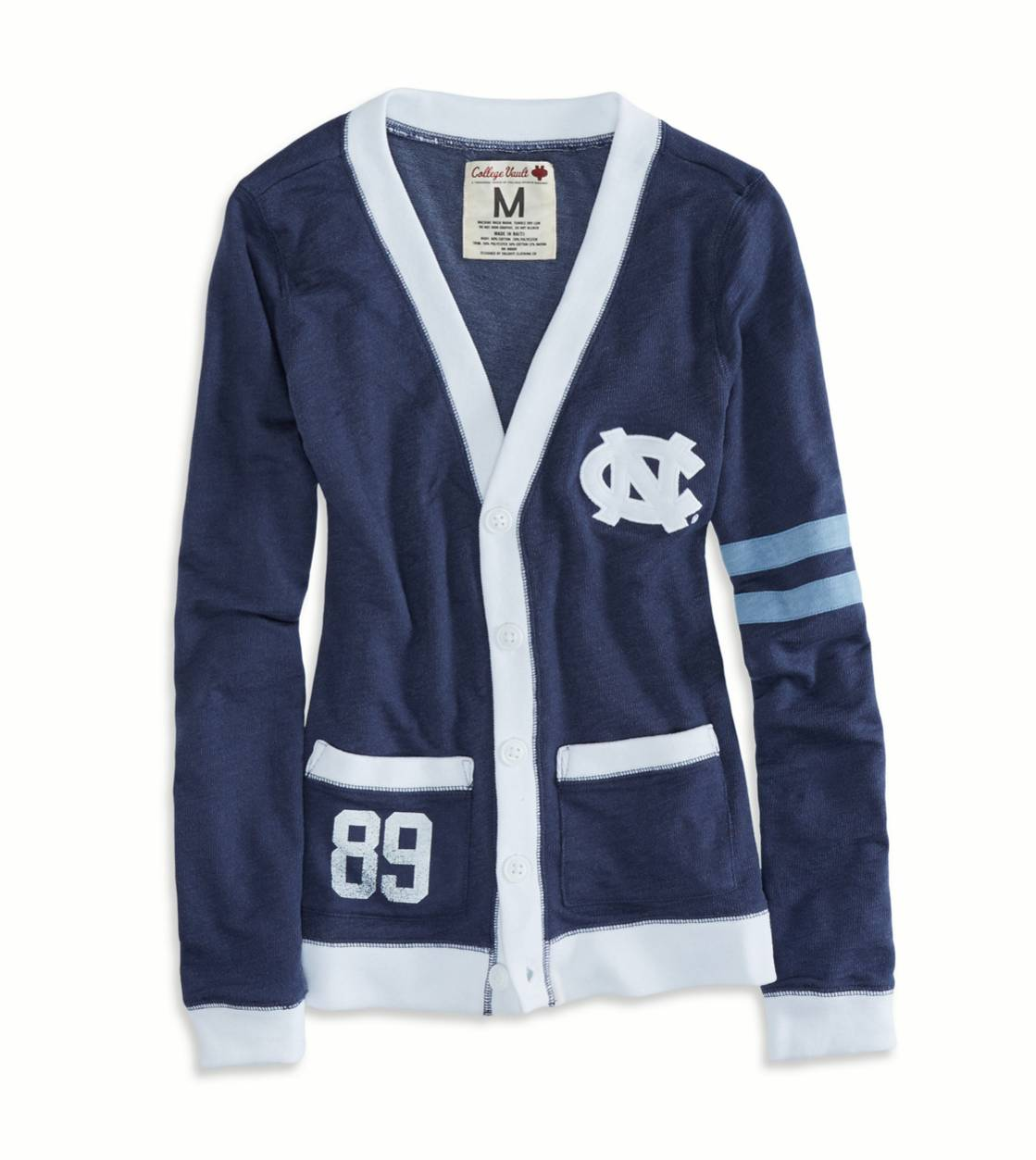 Navy North Carolina Vintage Varsity Cardigan
