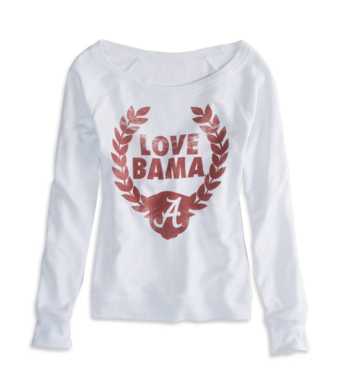 White  Alabama Vintage Raglan T-Shirt