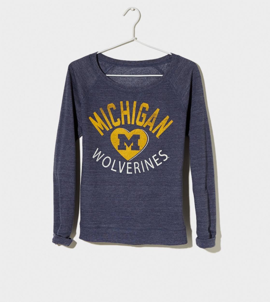 Navy Michigan Vintage Raglan T-Shirt
