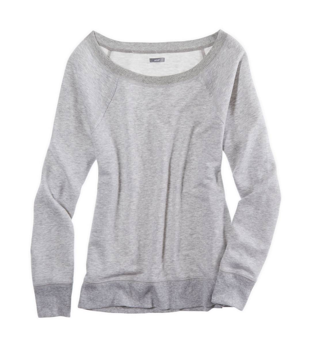 Medium Heather Grey Aerie Sparkle Crew Sweatshirt