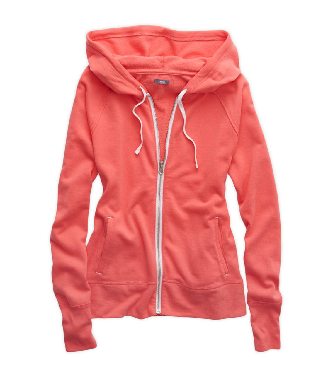 Whipped Strawberry Aerie Full Zip Hooded Sweatshirt