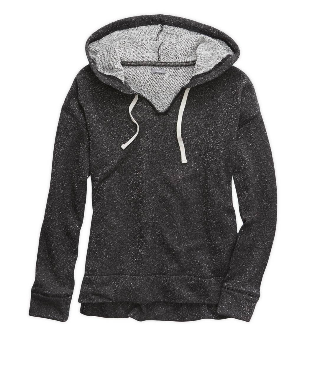 Charcoal Heather Grey Aerie Sparkle Hooded Sweatshirt