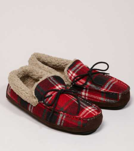 AEO Plaid Moccasin