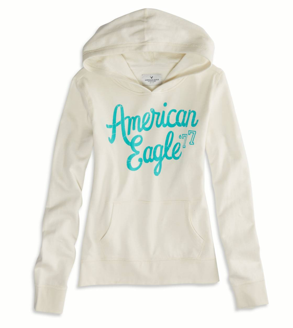 Cream AEO Factory Hooded Pop Over