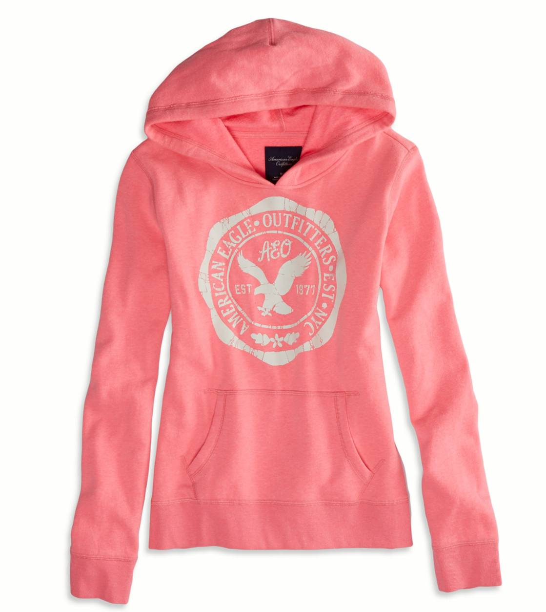 Voltage Pink AEO Factory Hooded Pop Over