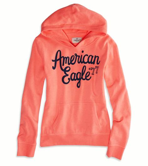 Knockout Pink AEO Factory Hooded Pop Over