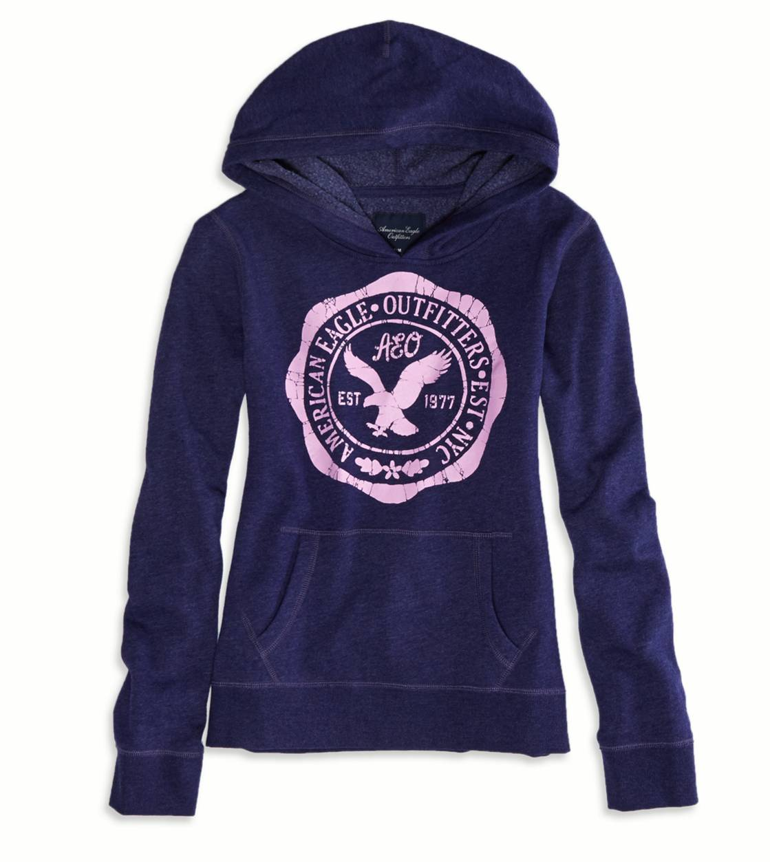 Evening Blue AEO Factory Hooded Pop Over