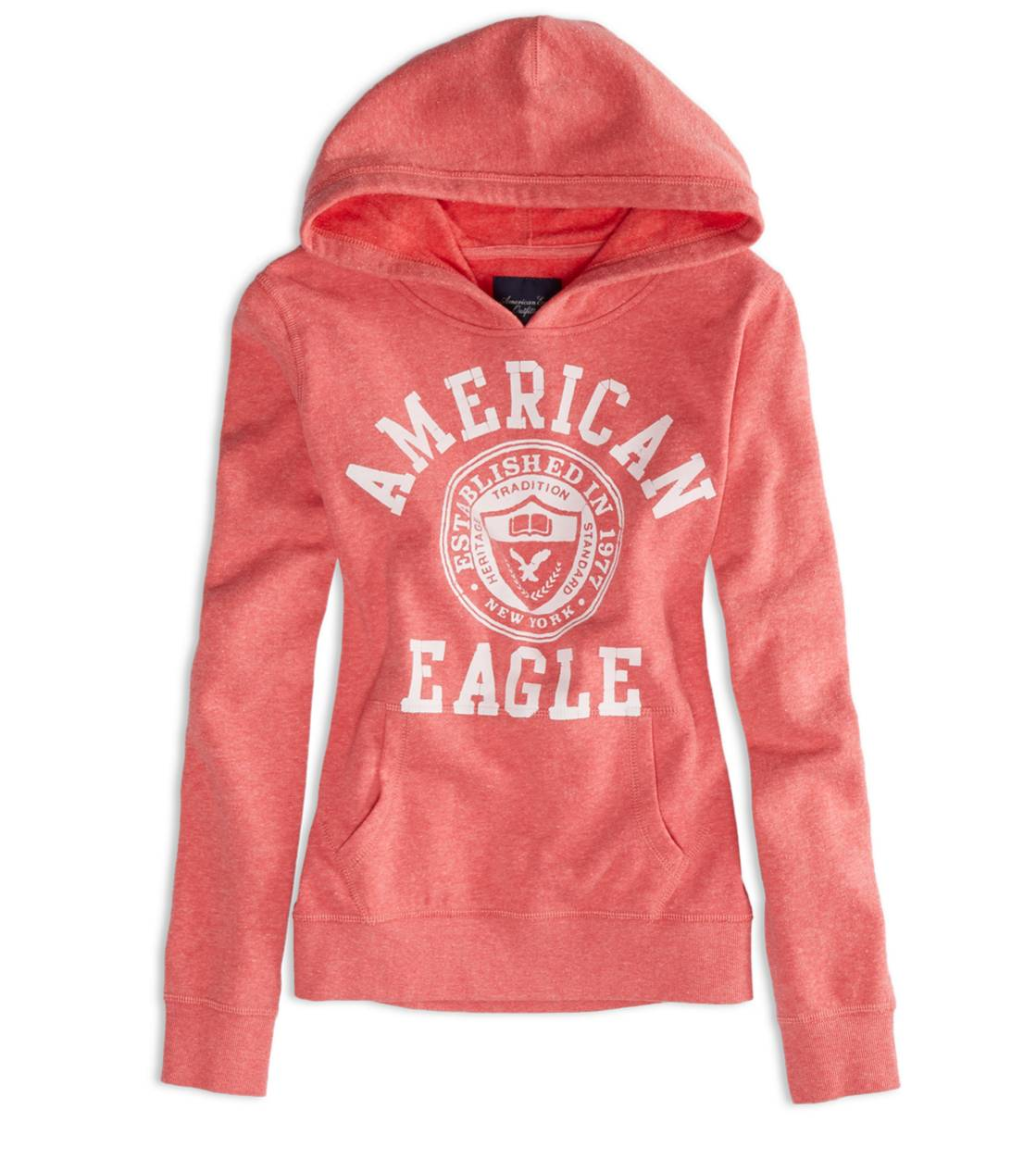 Bright Red AEO Factory Hooded Pop Over