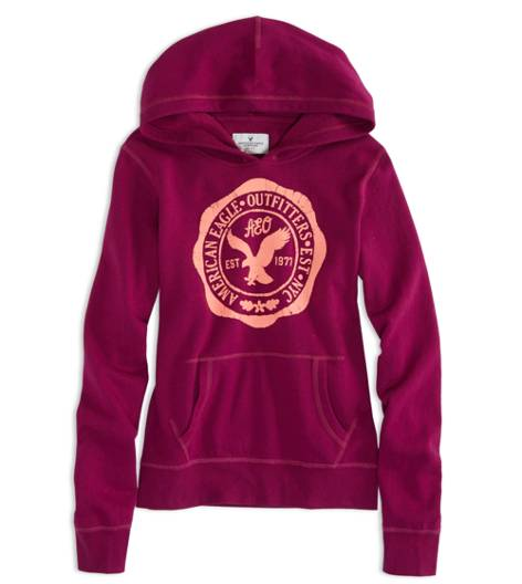 Fantasy Fuchsia AEO Factory Hooded Pop Over