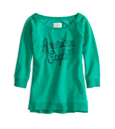 Emerald AEO Factory Signature Crew Sweatshirt