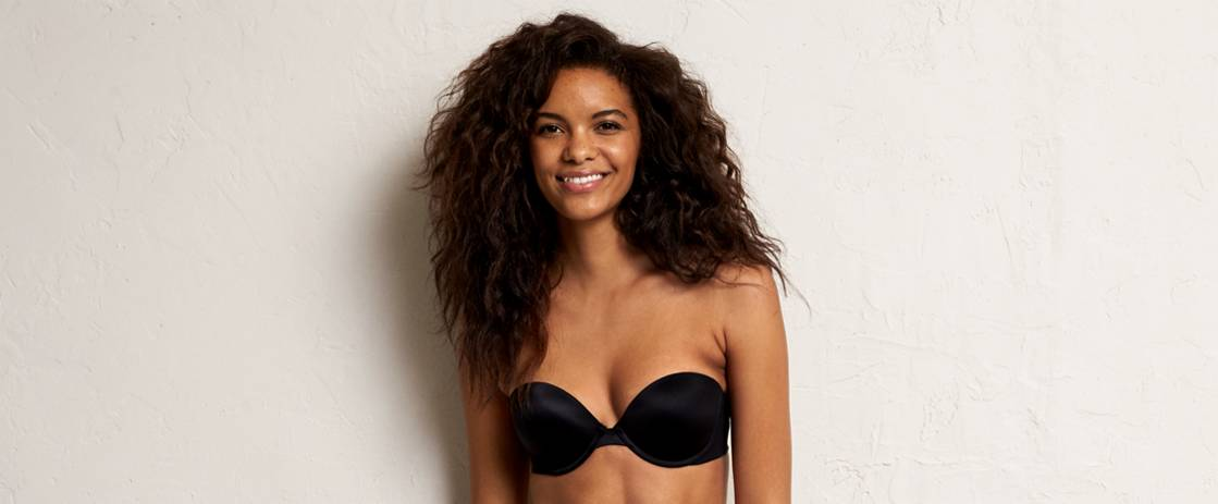 True Black Mia Multi-Way Pushup Bra